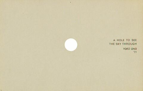 "Yoko Ono Handbill  : 3 3/4"" x 5 3/4"""