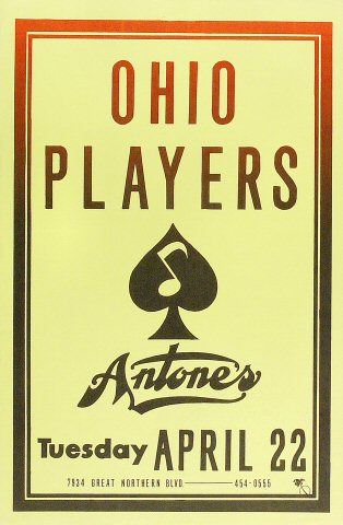 "The Ohio Players Poster from Antone's : 11 1/2"" x 17 1/2"""