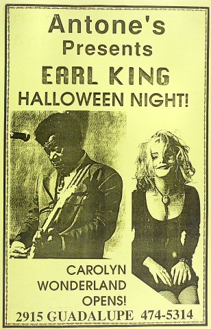 """Earl King Poster from Antone's : 11"""" x 17"""""""