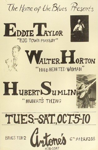 """Eddie Taylor Poster from Antone's : 11"""" x 17"""""""