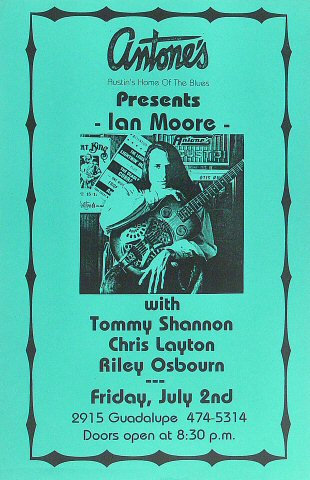 """Ian Moore Poster from Antone's : 11"""" x 17"""""""