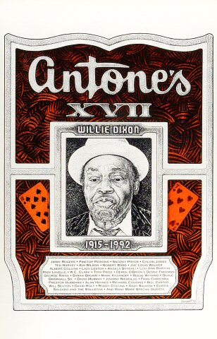 """Jimmy Rogers Poster from Antone's : 11"""" x 17"""""""