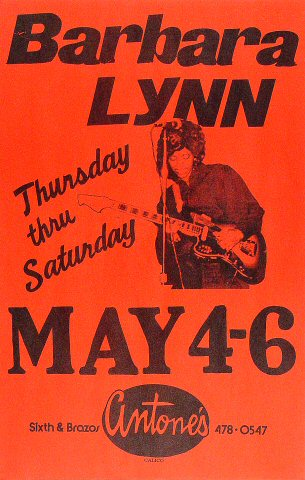 "Barbara Lynn Poster from Antone's : 11"" x 17"""