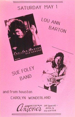 "Lou Ann Barton Poster from Antone's : 11"" x 17"""