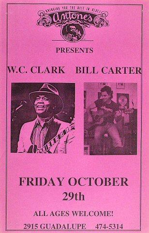 "W.C. Clark Poster from Antone's : 11"" x 17"""