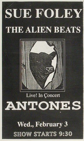 """Sue Foley Poster from Antone's : 8 1/2"""" x 14"""""""