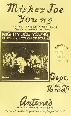 "Mighty Joe Young Poster from Antone's : 8 1/2"" x 14"""