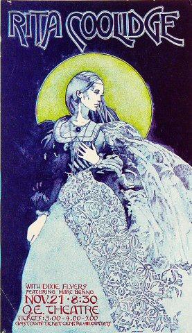 """Rita Coolidge Handbill from Queen Elizabeth Theatre : 4 1/4"""" x 7 1/8"""""""