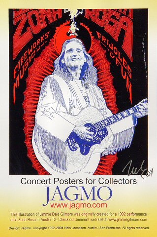 "Jimmie Dale Gilmore Postcard  : 6"" x 9"""