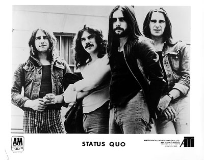 Status Quo Promo Print  : 8x10 RC Print
