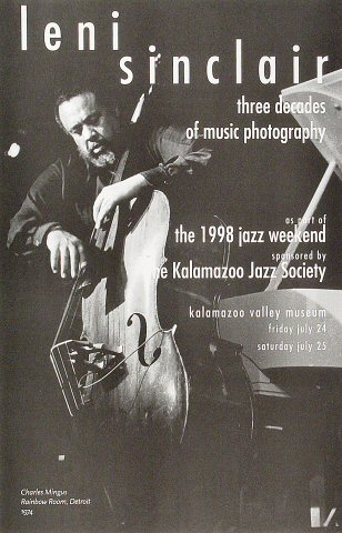 "Charles Mingus Poster from Kalamazoo Valley Museum : 11"" x 17"""