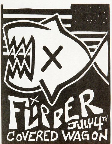 "Flipper Handbill from Covered Wagon Saloon on 04 Jul 83: 8 1/2"" x 11"""