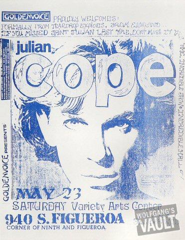 """Julian Cope Handbill from Variety Arts Center : 8 1/2"""" x 11"""""""
