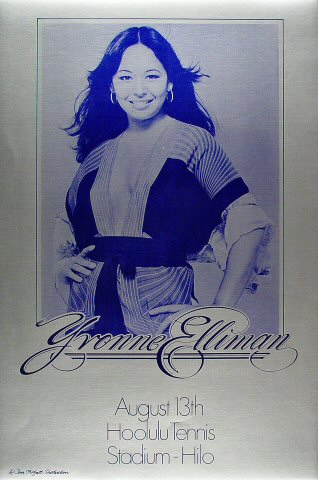 "Yvonne Elliman Poster from Hoolulu Tennis Stadium on 13 Aug 78: 16"" x 24"""