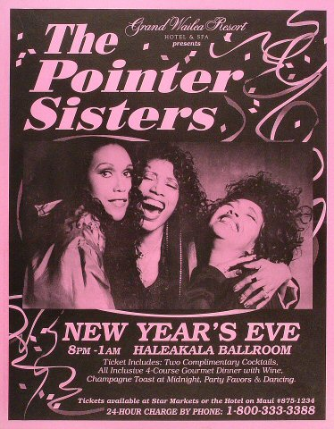 "The Pointer Sisters Poster from Grand Wailea Resort : 16 1/4"" x 20 3/4"""