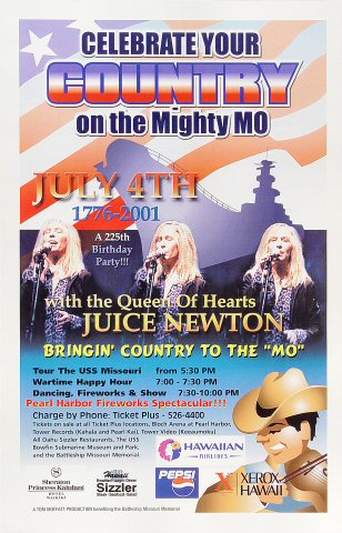 "Juice Newton Poster  on 04 Jul 01: 11"" x 17"""