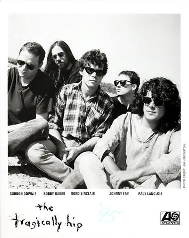 The Tragically Hip Promo Print  : 8x10 RC Print
