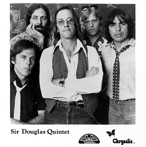 The Sir Douglas Quintet Promo Print  : 8x8 RC Print