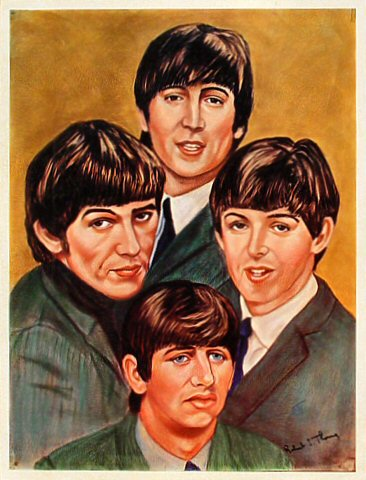 "The Beatles Handbill  : 8"" x 10 1/2"""