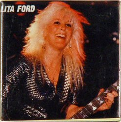 "Lita Ford Vintage Pin  : 1 1/2"" x 1 1/2"" Pin"