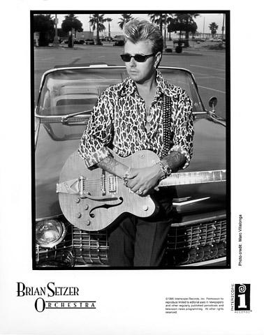 Brian Setzer Orchestra Promo Print  : 8x10 RC Print