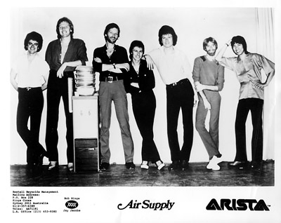 Air Supply Promo Print  : 8x10 RC Print