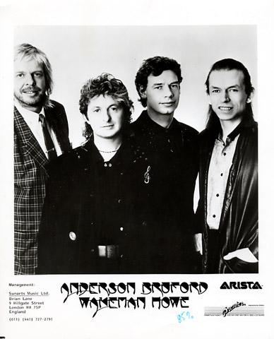 Anderson Bruford Wakeman Howe Promo Print  : 8x10 RC Print