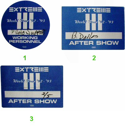 Extreme Backstage Pass  on 05 Feb 93: Pass 2