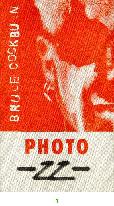 Bruce Cockburn Backstage Pass  : Pass 1
