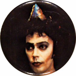 "Tim Curry Vintage Pin  : 2 1/12"" x 2 1/2"" Pin"