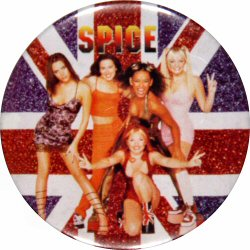 "Spice Girls Vintage Pin  : 2 1/2"" x 2 1/2"" Pin"