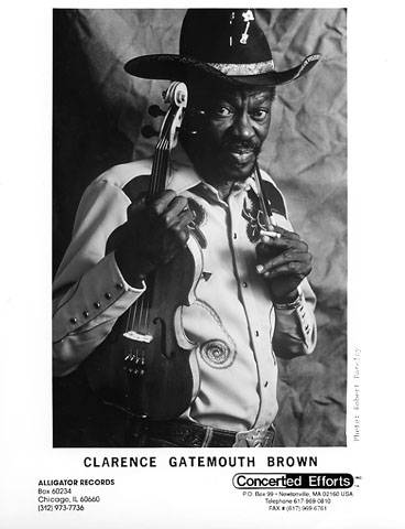 "Clarence ""Gatemouth"" Brown Promo Print  : 8x10 RC Print"