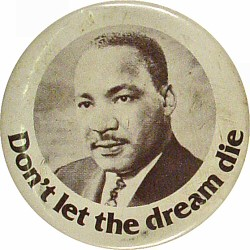 "Martin Luther King Jr. Vintage Pin  : 1 3/4"" x 1 3/4"" Pin"