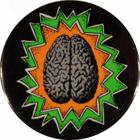 "Brains Vintage Pin  : 2 1/4"" x 2 1/4"" Pin"
