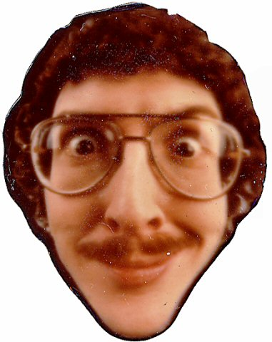"Weird Al Yankovic Vintage Pin  : 1 1/2"" x 1 1/2"" Pin"