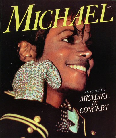 "Michael Jackson Program  : 11"" x 13 1/8"""