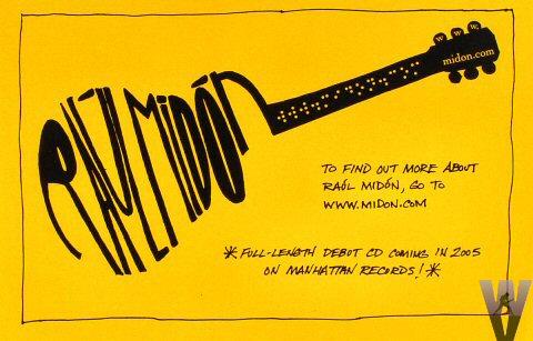 """Raul Midon Handbill  : 5 1/2"""" x 8 1/2"""""""