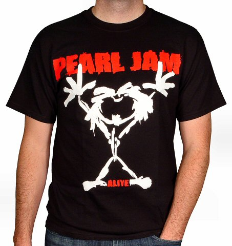 Pearl Jam Men's Retro T-Shirt  : X Large