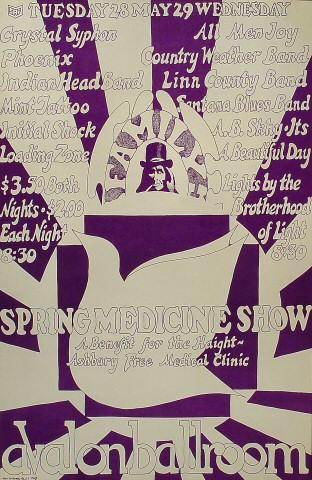 Spring Medicine Show: A Benefit for the Haight-Ashbury Free Medical Clinic Poster