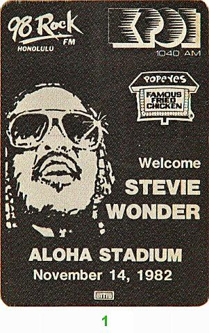 Stevie WonderBackstage Pass