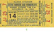 Stevie Wonder 1980s Ticket