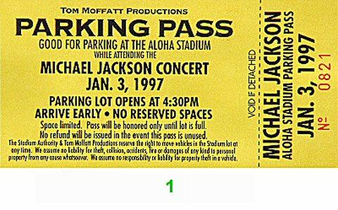 Michael Jackson Backstage Pass
