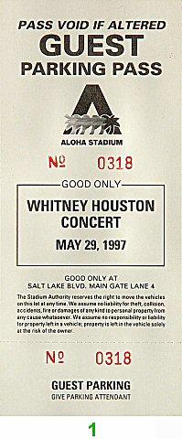 Whitney HoustonBackstage Pass