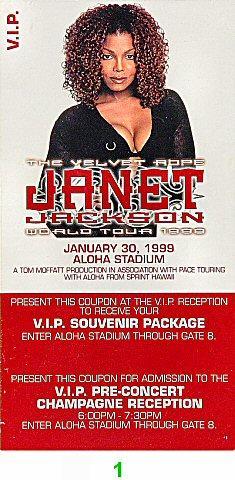 Janet JacksonVintage Ticket