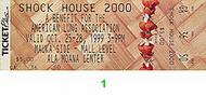 Shock House 2000 1990s Ticket