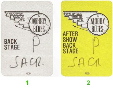 The Moody Blues Backstage Pass