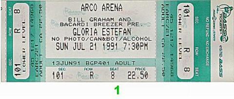 Gloria EstefanVintage Ticket