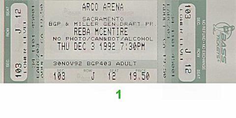 Reba McEntireVintage Ticket