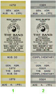 The Band 1990s Ticket