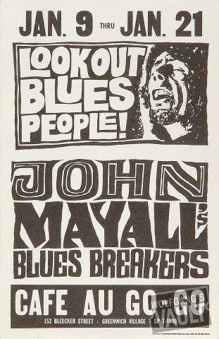 John Mayall & the Bluesbreakers Handbill